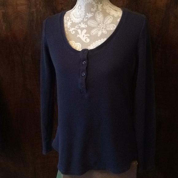 Gramicci Tops - Gramicci henley long sleeve navy shirt in size XL
